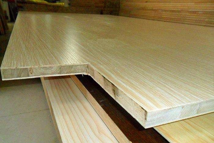 E1 E2 Melamine Paper Faced Laminated Block Board For Packaging Flooring 18mm